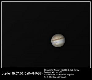 Skywatcher N 150_750 Explorer BD NEQ-3 Jupiter