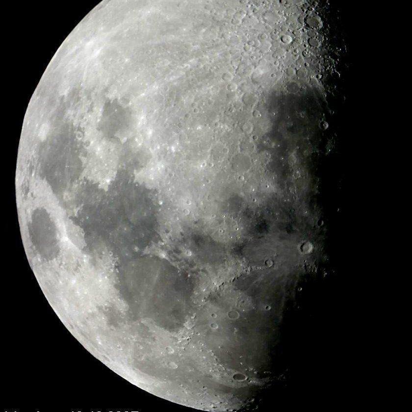 Omegon Teleskop N 114_900 EQ-1 Mond
